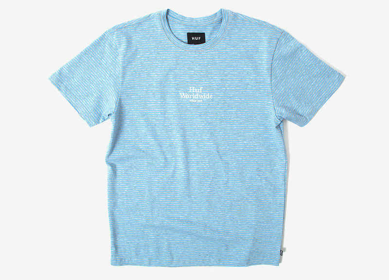 HUF Royale Stripe T Shirt - Blue Grey Heather