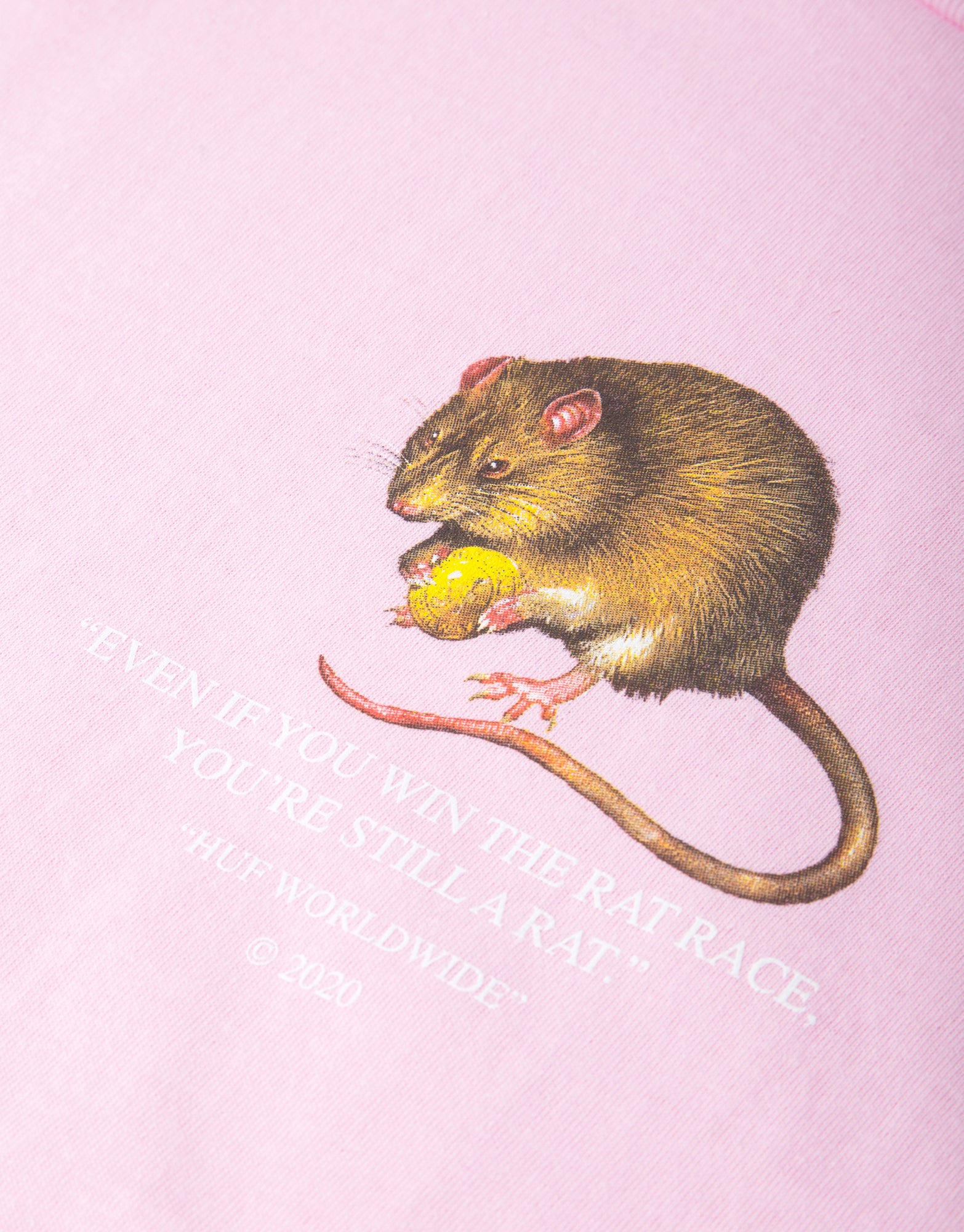 HUF Rat Race T Shirt - Coral Pink