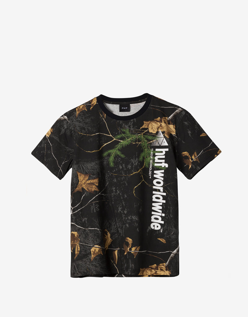 HUF Realtree Peak Logo T Shirt - Realtree Black