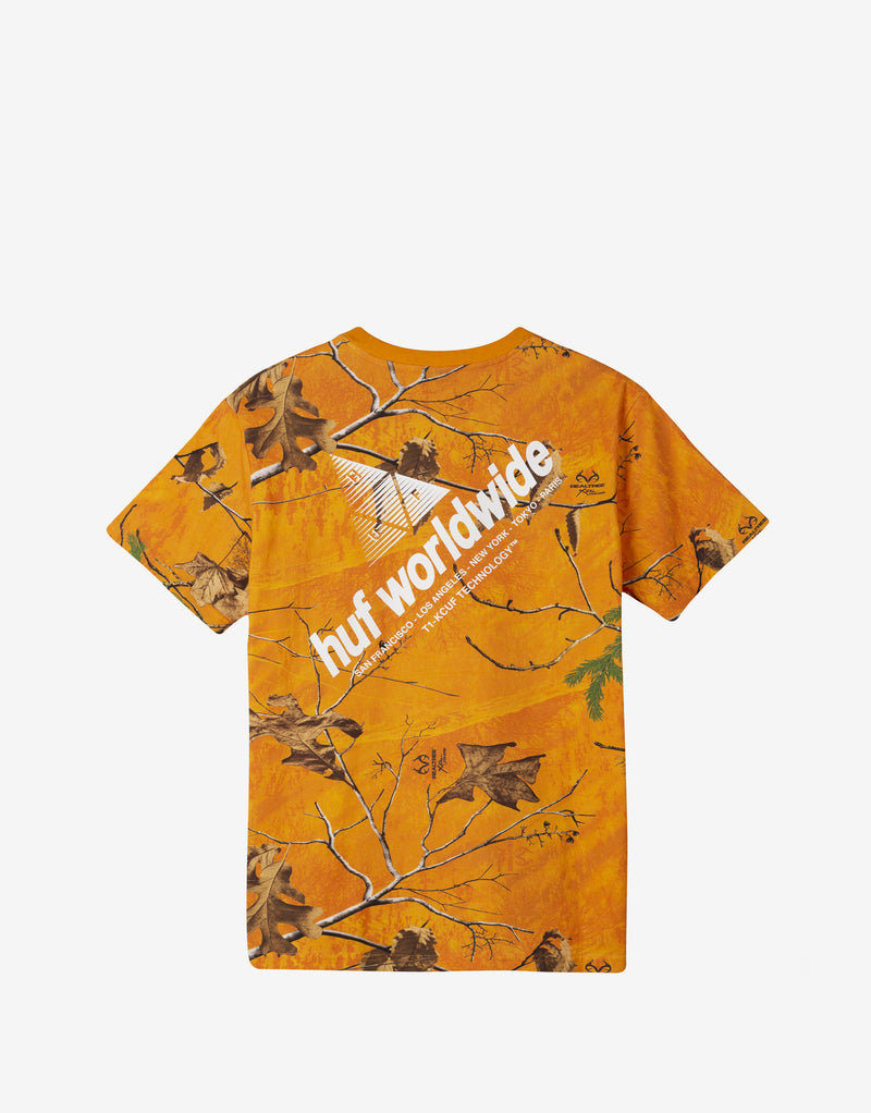 HUF Realtree Peak Logo T Shirt - Realtree Orange