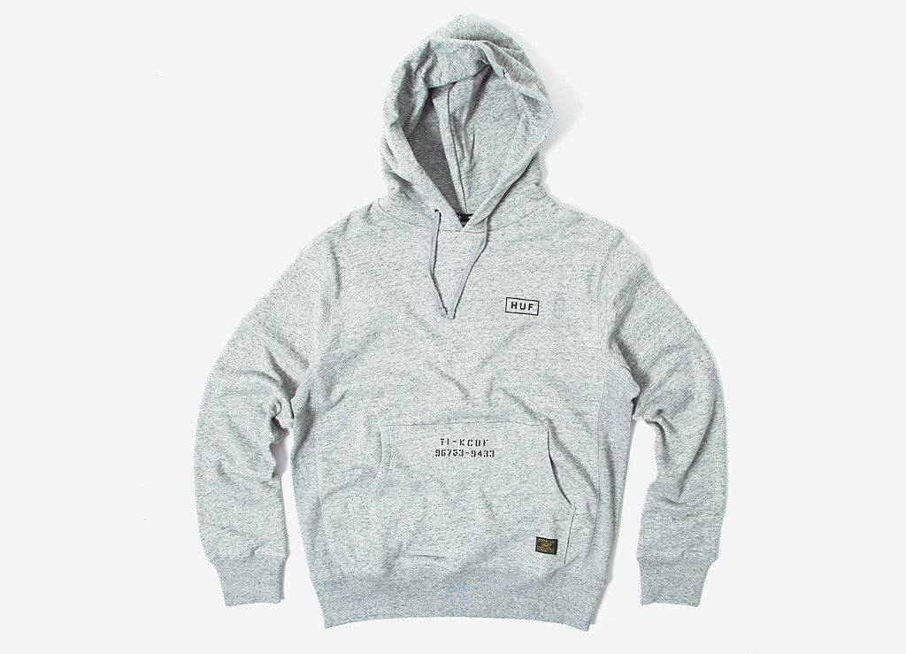 HUF Standard Issue Pullover Hoody - Heather Grey