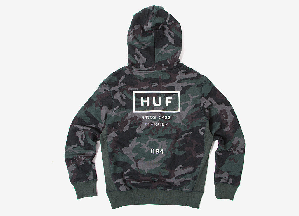 HUF Standard Issue Pullover Hoody - Woodland Camo
