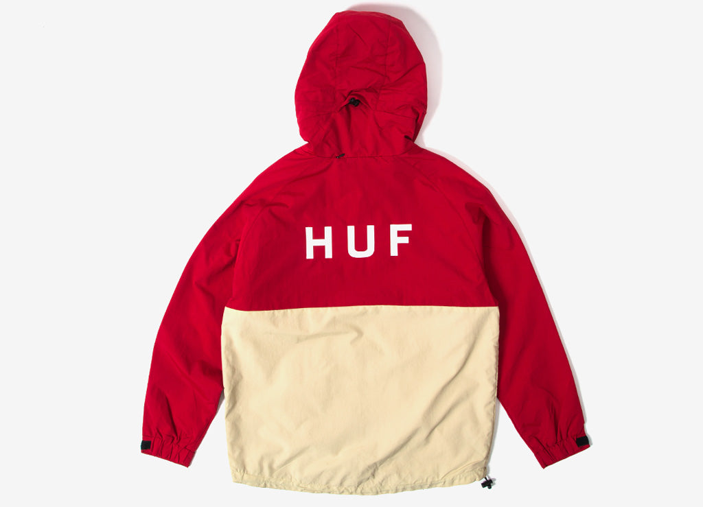 HUF Standard Shell Jacket - Red/Tan