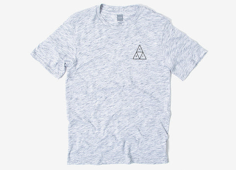 HUF Triple Triangle Streaky Heather T Shirt - White