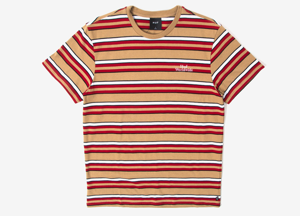 HUF Malibu Stripe Shirt - Red