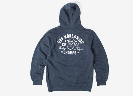 HUF Swings King Pullover Hoody - Heather Navy