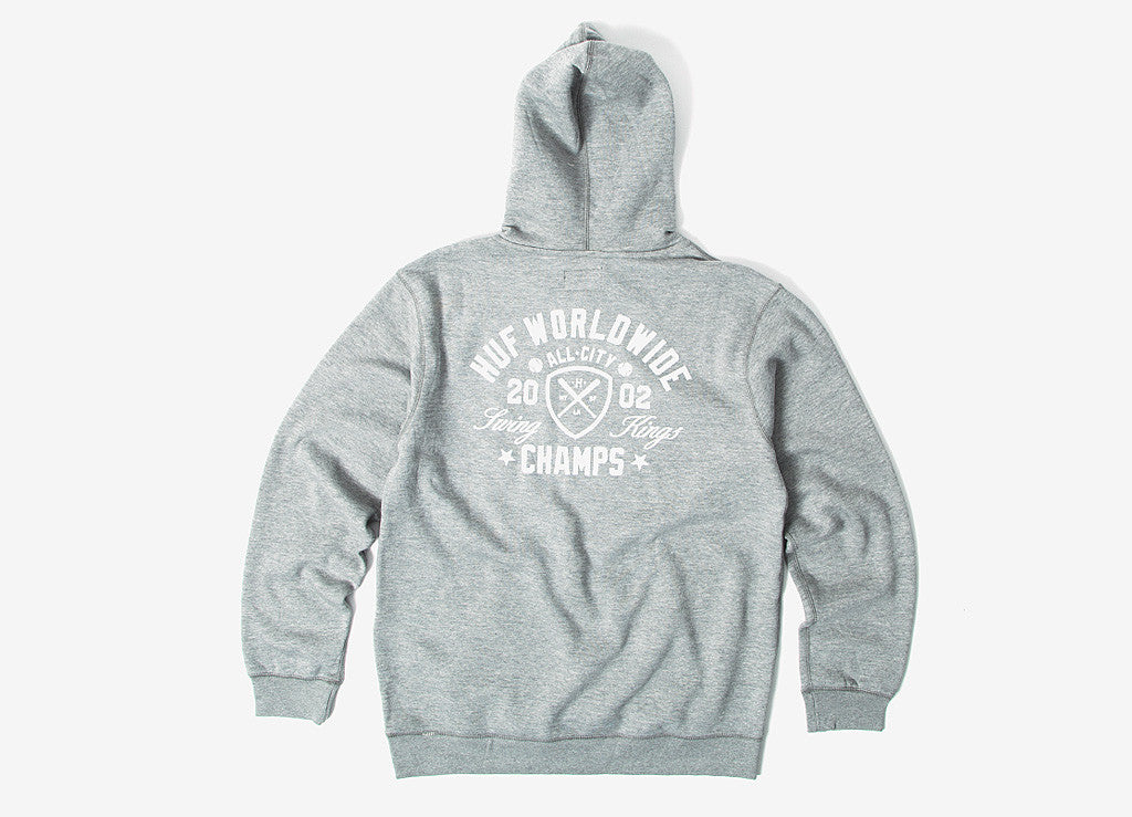 HUF Swings King Pullover Hoody - Heather Grey