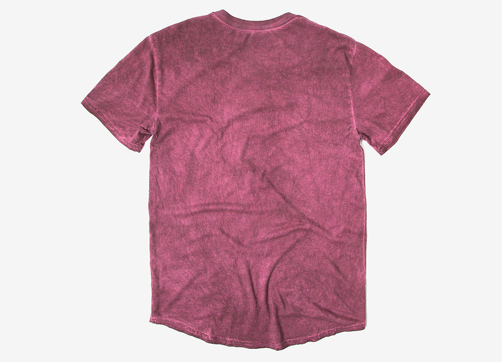 HUF Script Enzyme Wash Henley T Shirt - Wine