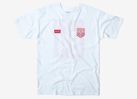 HUF Worldwide Team T Shirt - White