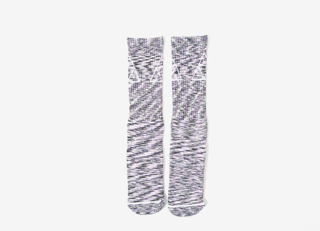 HUF Triple Triangle Melange Crew Socks - Pink