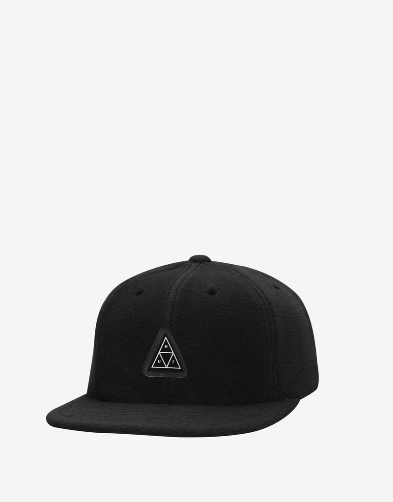 HUF TT Fleece 6 Panel Hat - Black