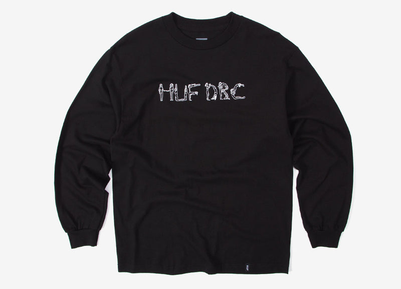 HUF The Ladies EMB Long Sleeve T Shirt - Black