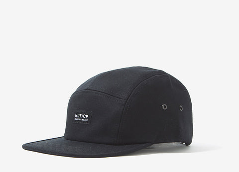 HUF x Cleon Peterson Volley 5 Panel Cap - Black