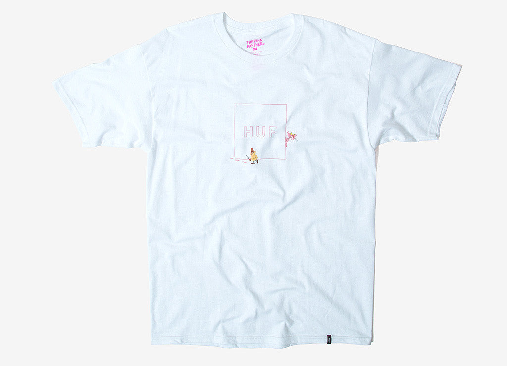 HUF x Pink Panther Box Logo T Shirt - White