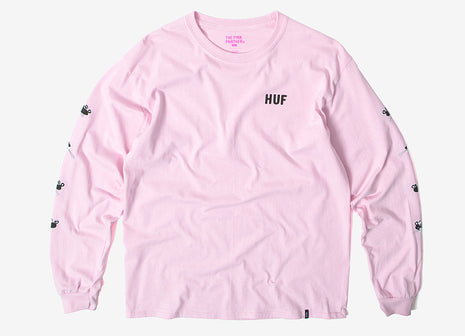 HUF x Pink Panther Heads LS T Shirt - Pink