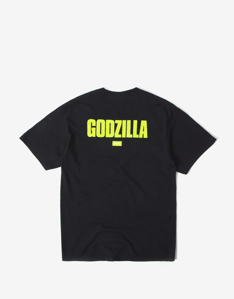 HUF x Godzilla Bar Logo T Shirt - Black