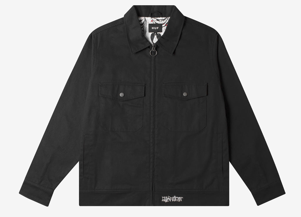 HUF x Phil Frost Work Jacket - Black