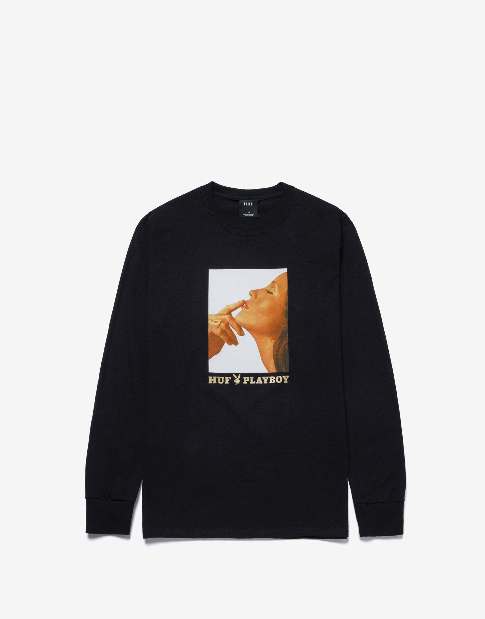 HUF x Playboy Lust For Life Long Sleeve T Shirt - Black