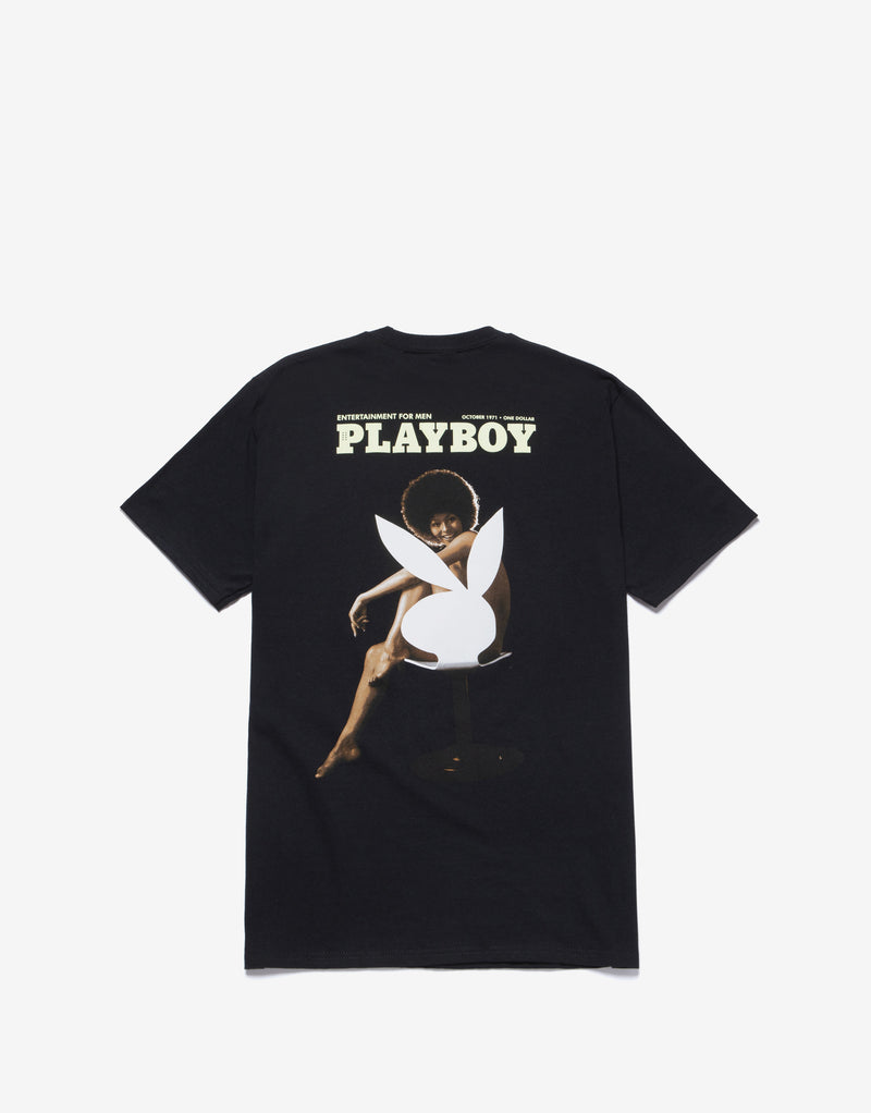 HUF x Playboy October 1971 T Shirt - Black