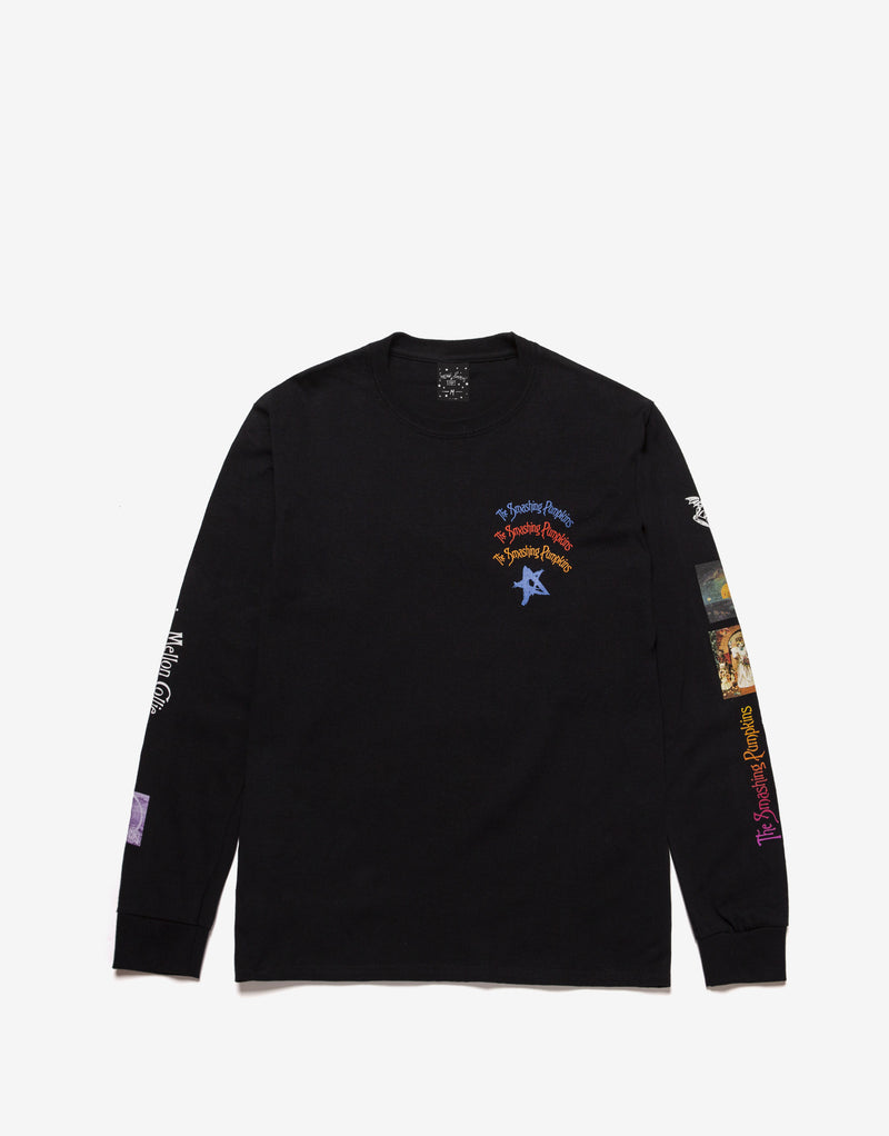 HUF x Smashing Pumpkins Bullet Long Sleeve T Shirt - Black