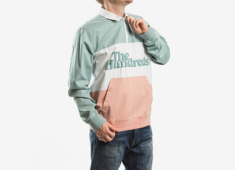The Hundreds Andre Half Zip - Pale Turquoise