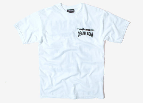 The Hundreds x Death Row 25th T Shirt - White