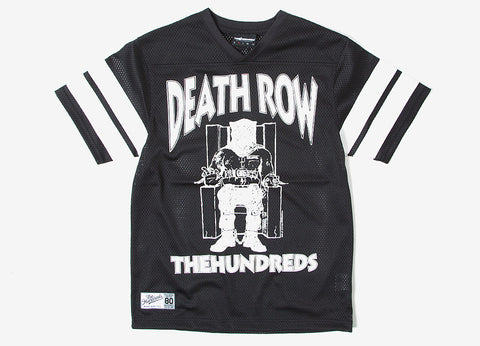 The Hundreds x Death Row Football Jersey - Black
