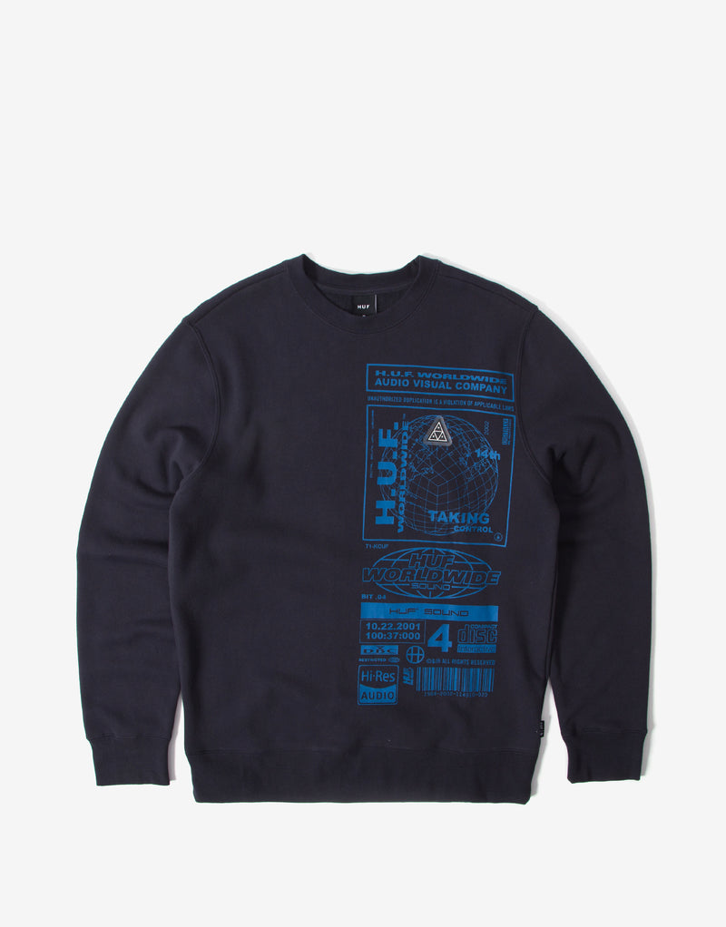 Huf Bit-6 Crewneck - French Navy