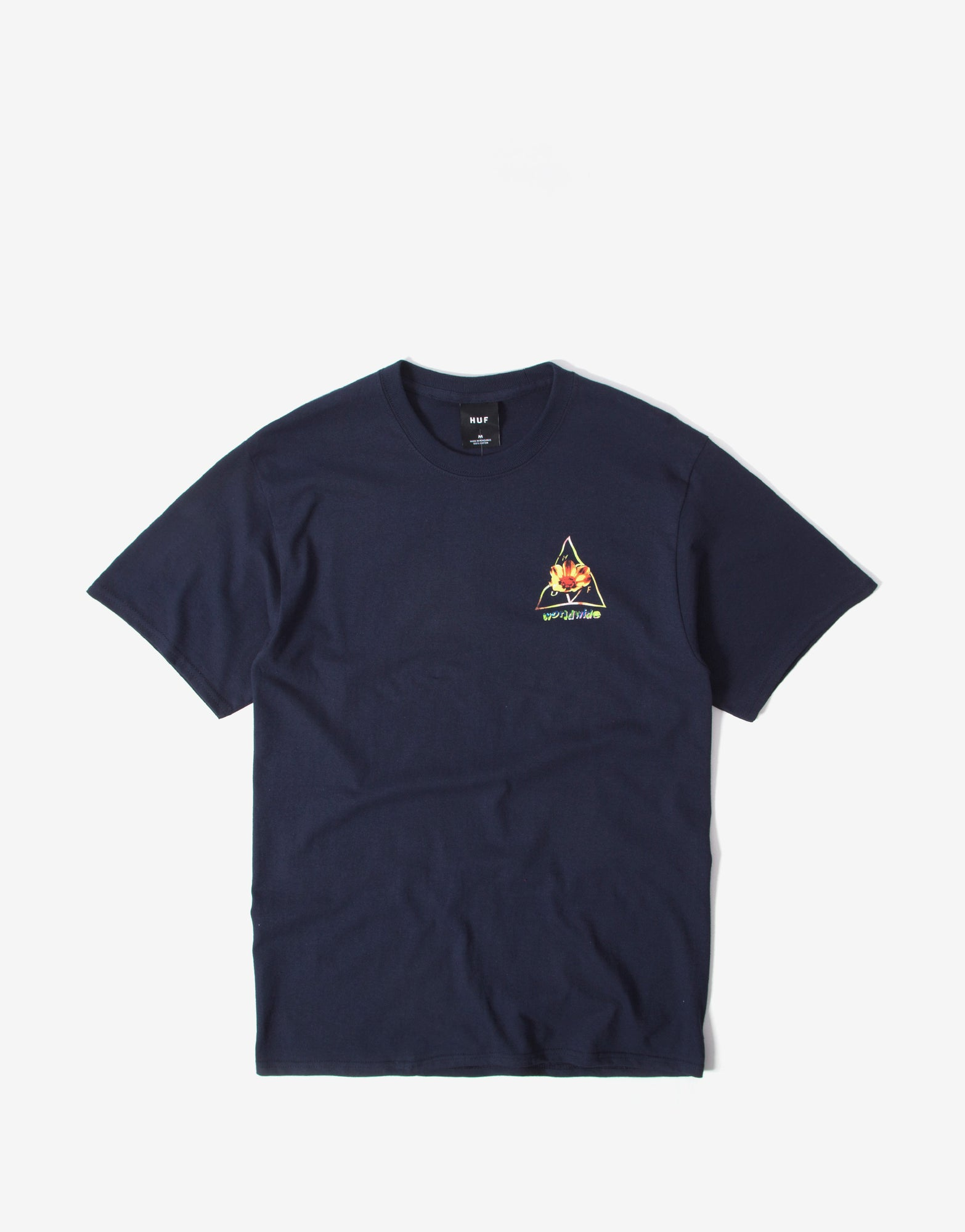Huf Come Down Triple Triangle T Shirt - French Navy