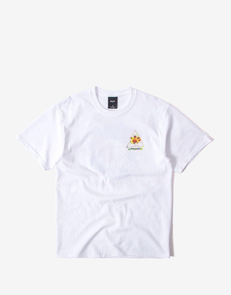 Huf Come Down Triple Triangle T Shirt - White