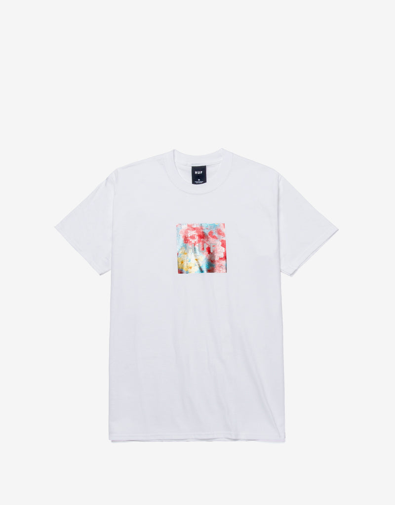 HUF Foil Flower Box Logo T Shirt - White