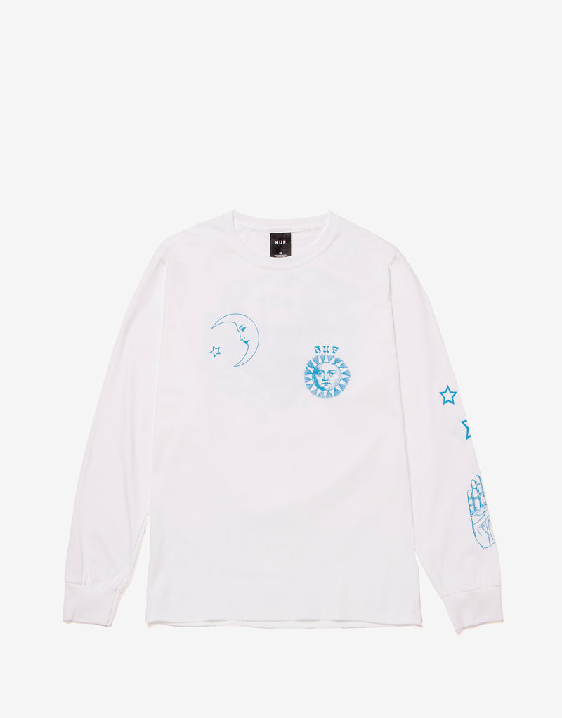 HUF Gratefully Yours Long Sleeve T Shirt - White
