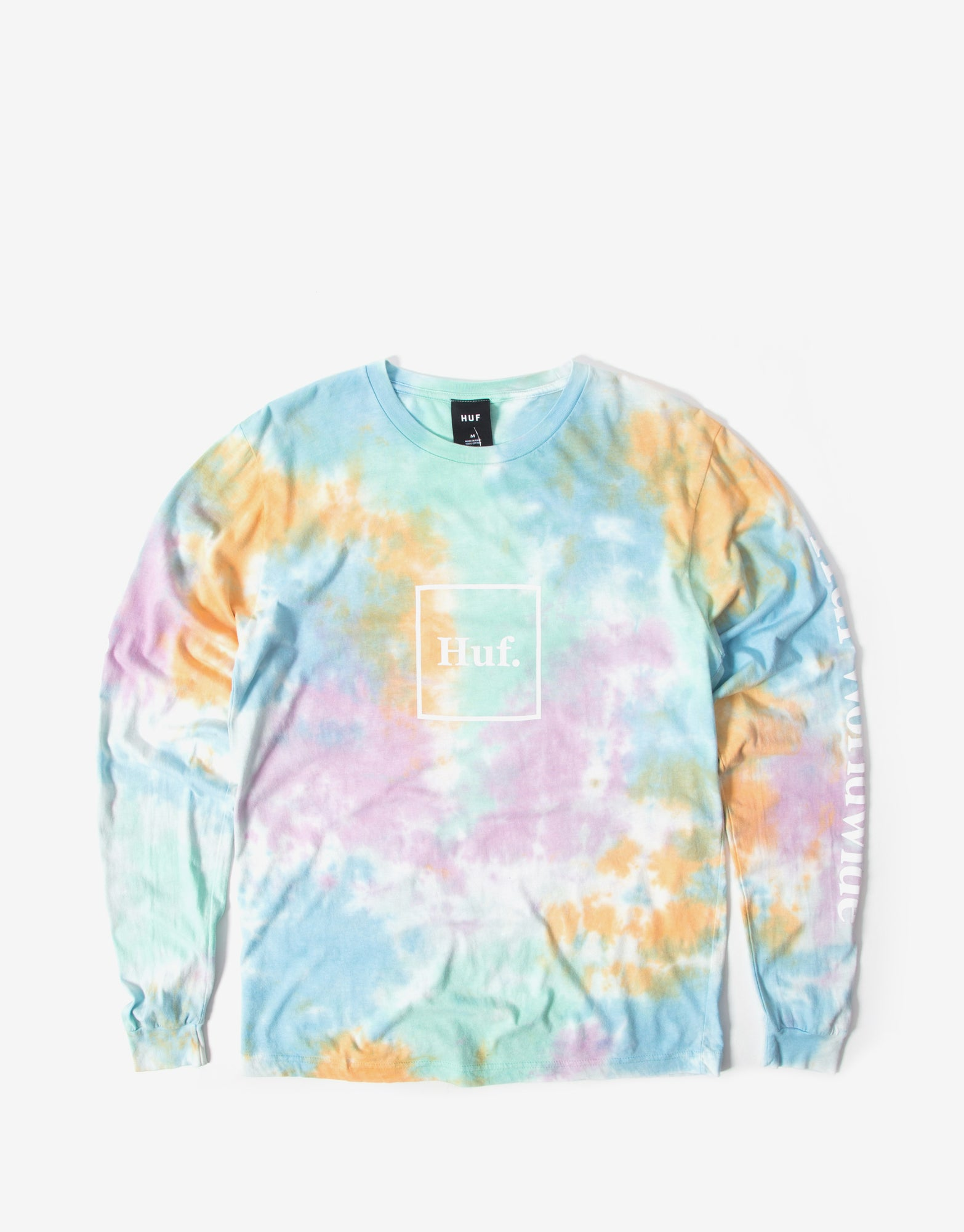 Huf Prism Wash Domestic long Sleeve T Shirt - White