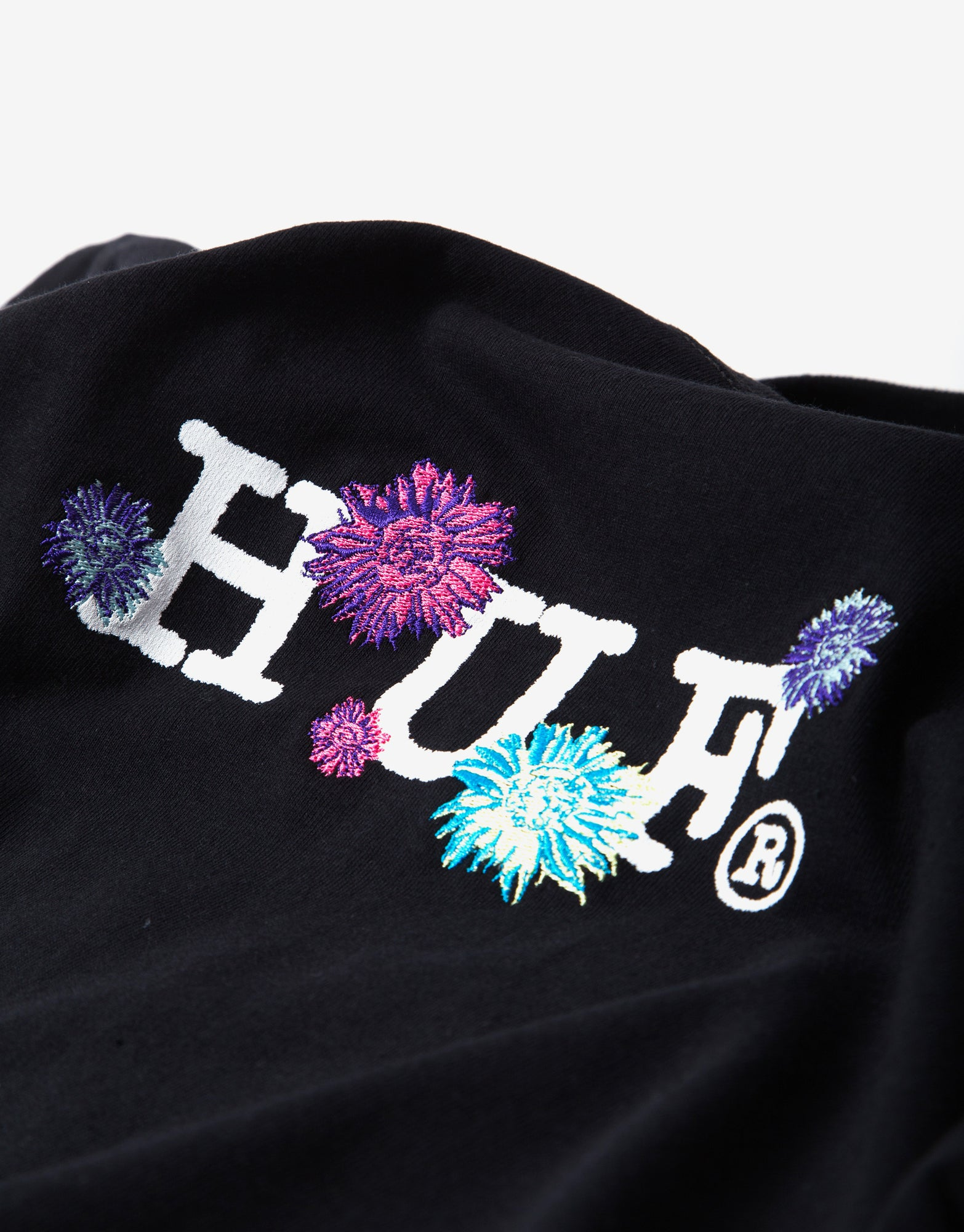 Huf Psycho Daises Long Sleeve T Shirt - Black