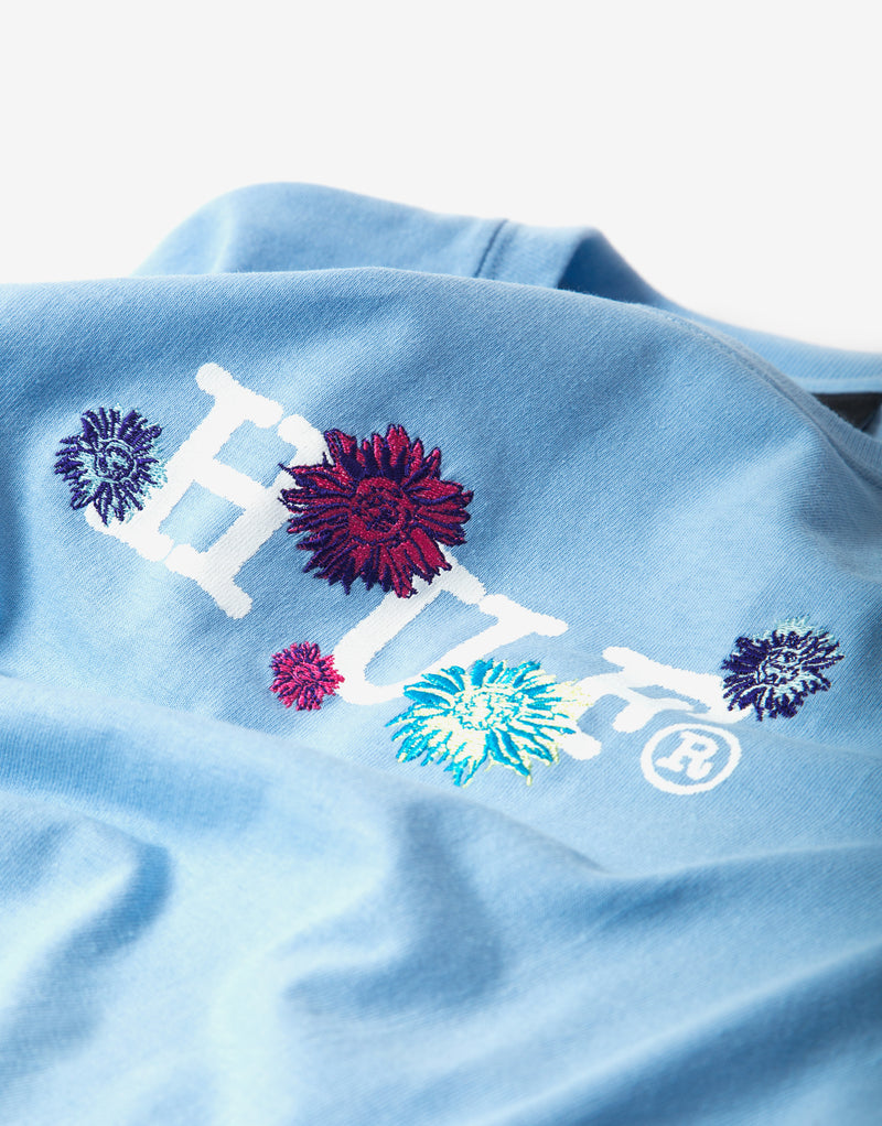 Huf Psycho Daisies Long Sleeve T Shirt - Light Blue