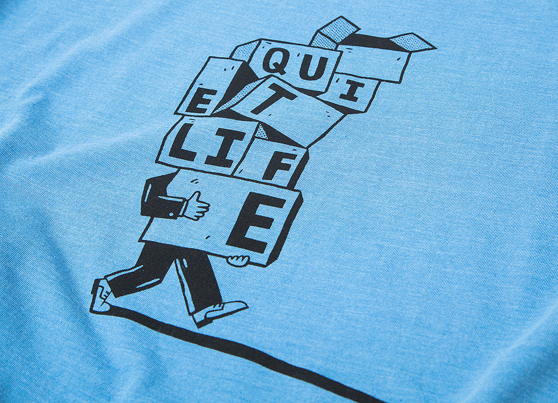 The Quiet Life Stacked Boxes Premium T Shirt - Heather Blue