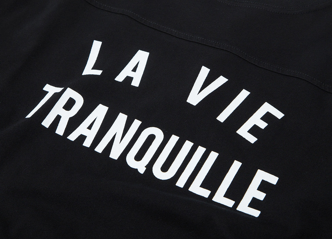The Quiet Life La Vie Tranquille Varsity T Shirt - Black