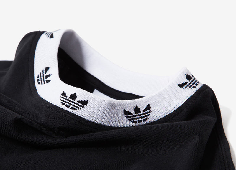 adidas Originals Trefoil Rib T Shirt - Black/White