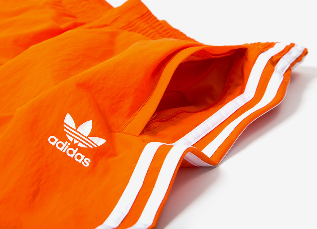 adidas Originals 3 Stripes Swim Shorts - Orange