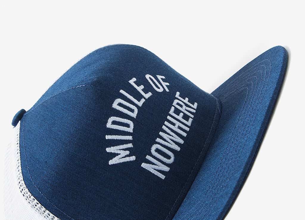 The Quiet Life Middle Of Nowhere Trucker Cap - Navy
