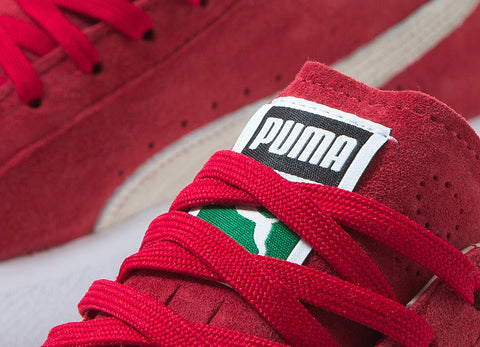 PUMA Clyde OG Shoes - Cherry/White