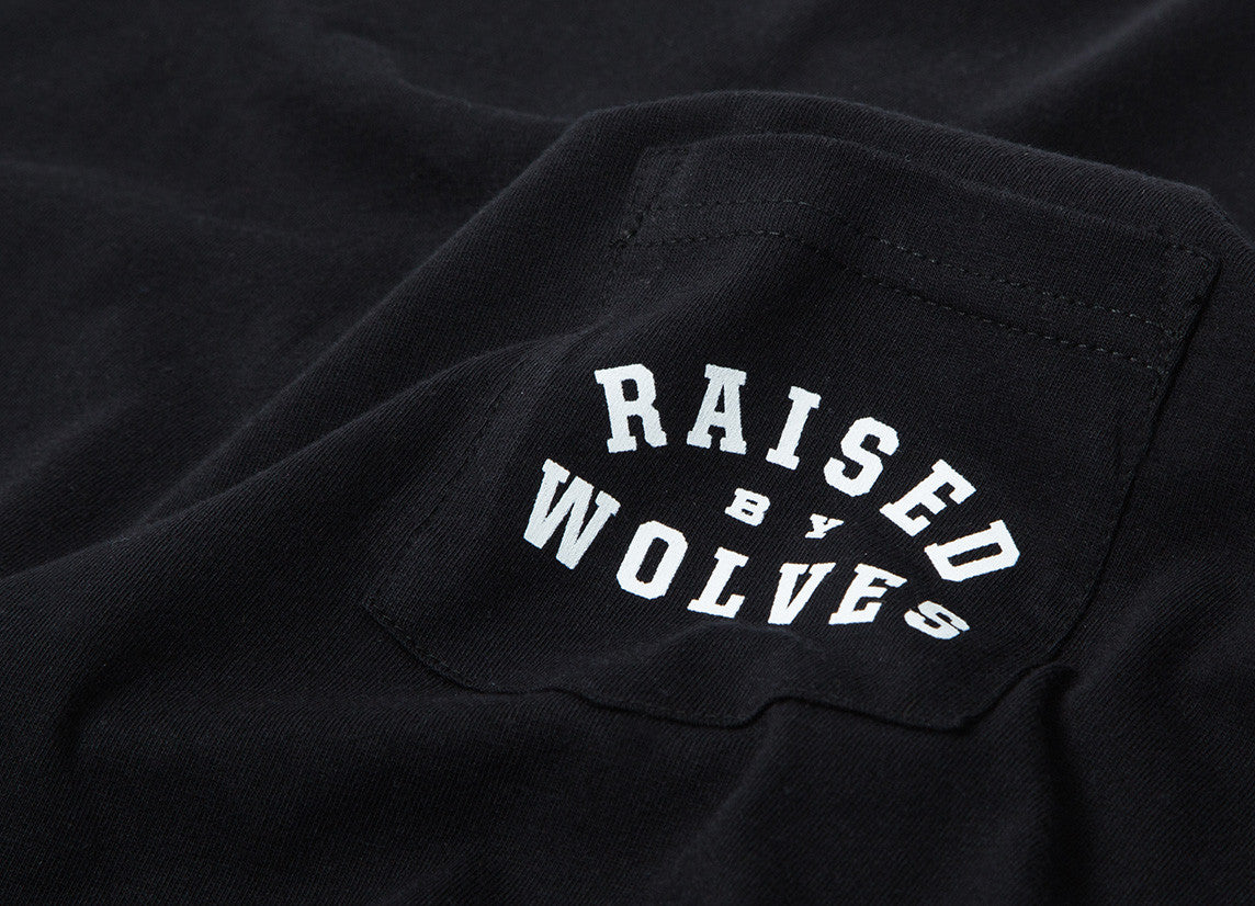 Raised By Wolves Mirror Pocket T Shirt - Black