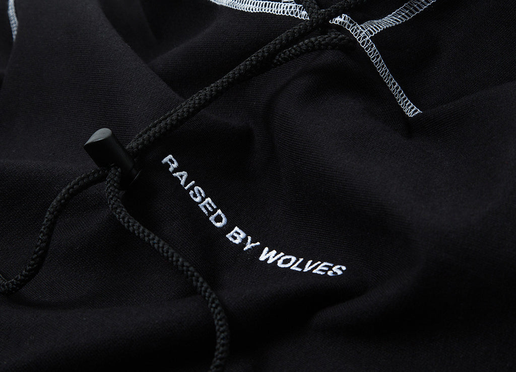 Raised By Wolves Bikini Hooded Sweatshirt - Black