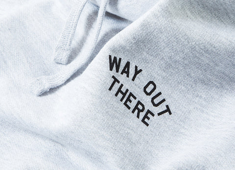 The Quiet Life Way Out Pullover Hoody - Heather Grey