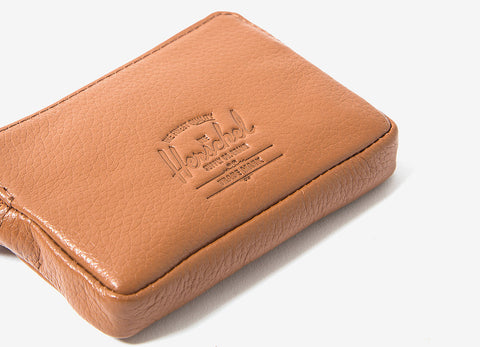 Herschel Supply Co Oxford Wallet - Tan Pebbled Leather