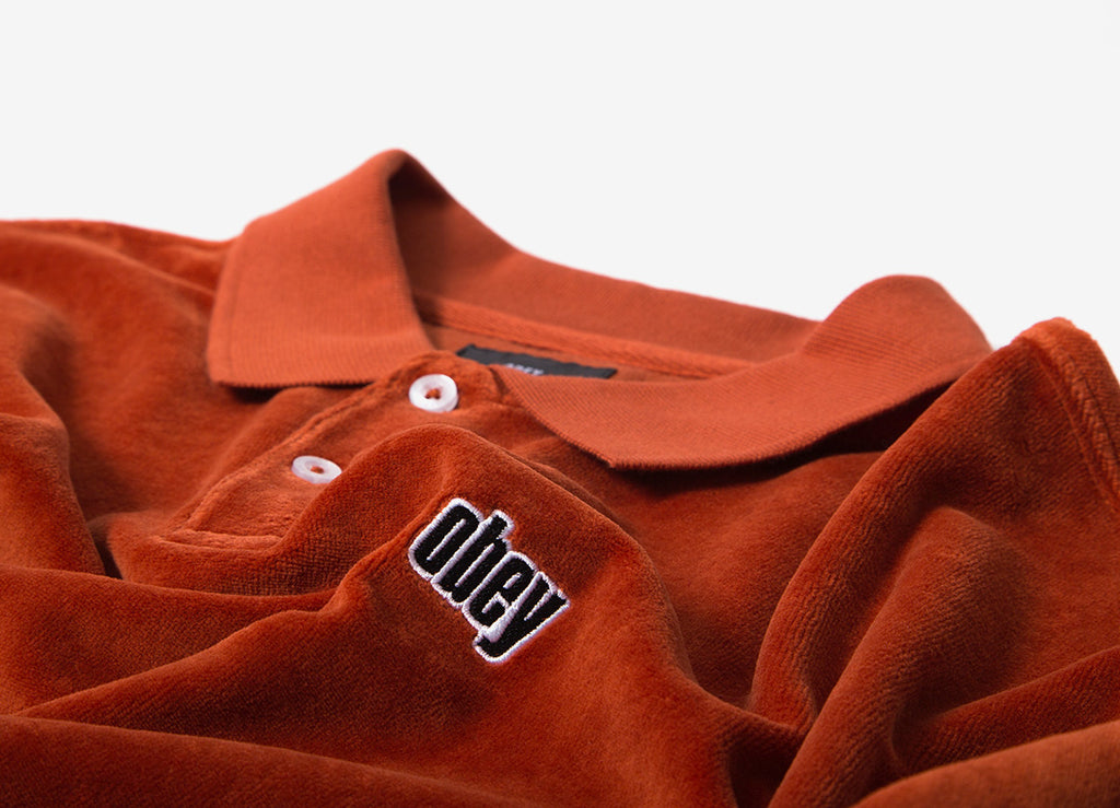 Obey Saucer Polo LS Shirt - Picante