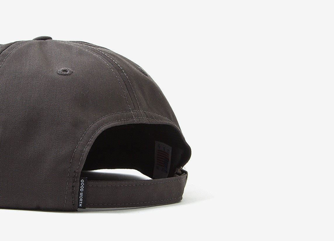 Good Worth & Co Anyway Strapback Cap - Charcoal