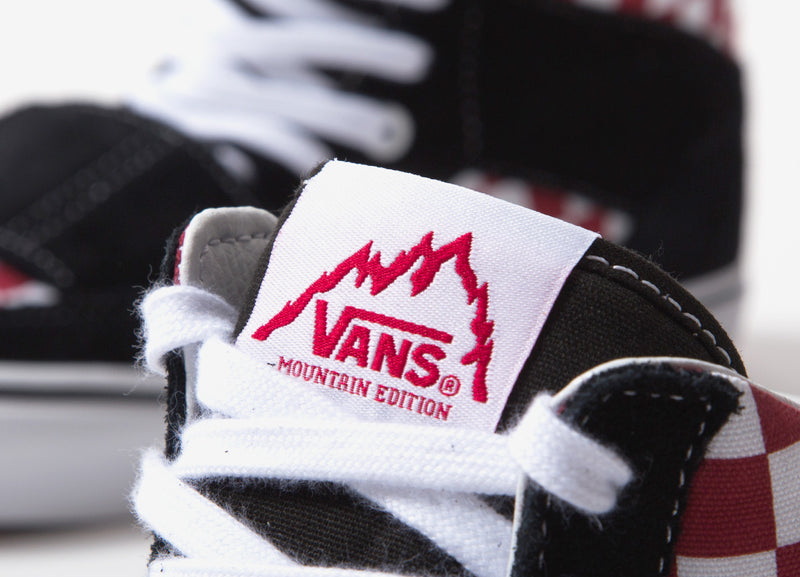 Vans Mountain Edition Shoes - (Checkerboard) Red/White