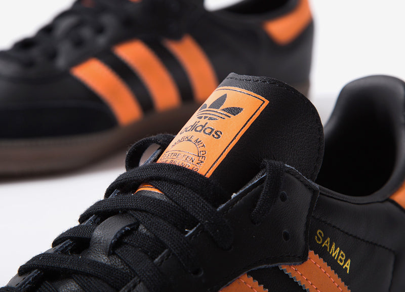 adidas Originals Samba OG Shoes - Core Black/Hi-Res Orange