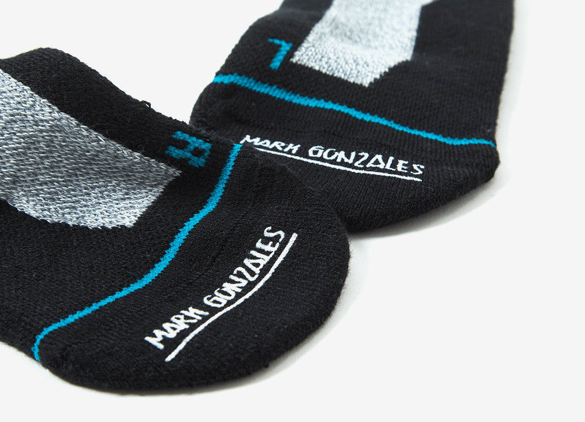Stance x Mark Gonzales Smiley Socks - Grey